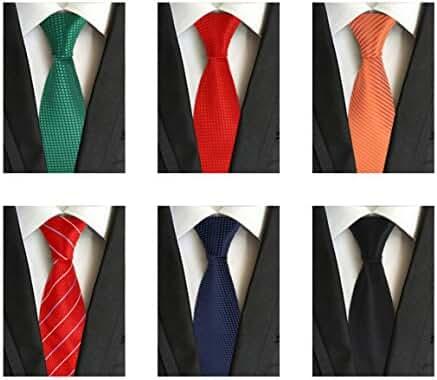 WeiShang Lot 6 PCS 4 inch Classic Men's Wide Tie Necktie Woven JACQUARD Neck Ties