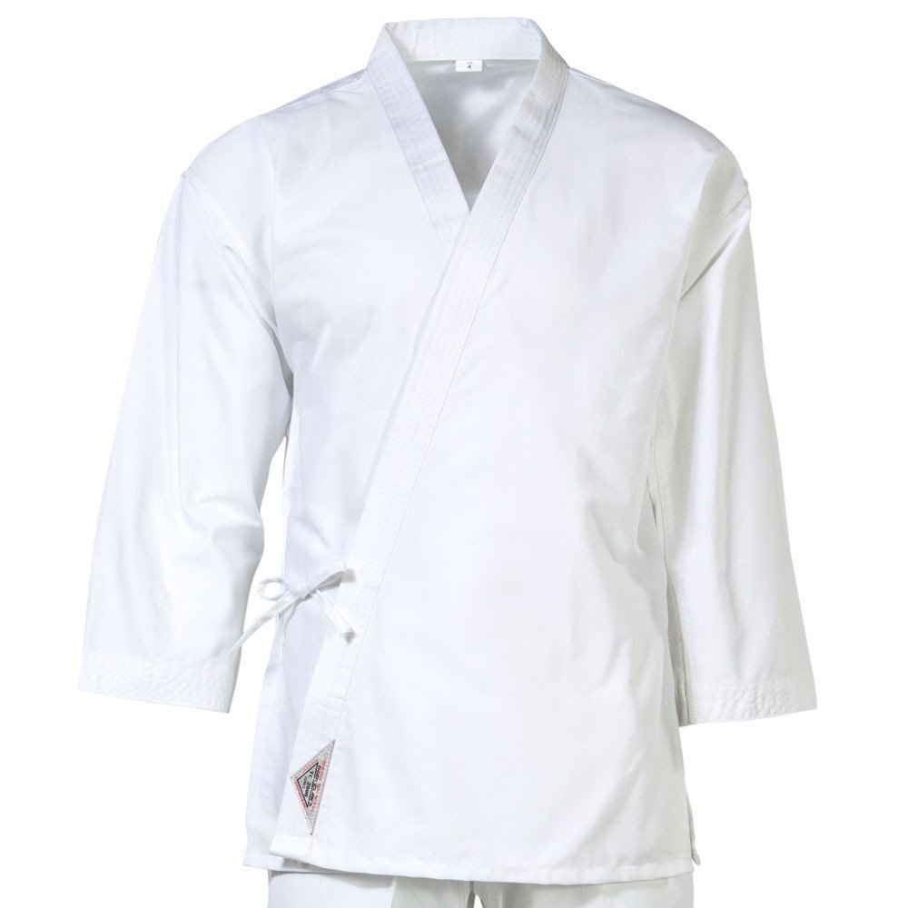 Tiger Claw Traditional Light Weight Karate Uniform Top - White - Size 000 by Tiger Claw