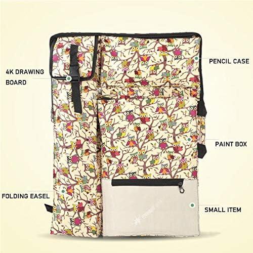 DSRHOM 4K Art Canvas Bag Borsa da Disegno Schizzo Borsa da Disegno Borsa Zaino Borsa Multifunzione in Tela Impermeabile di Grande capacità