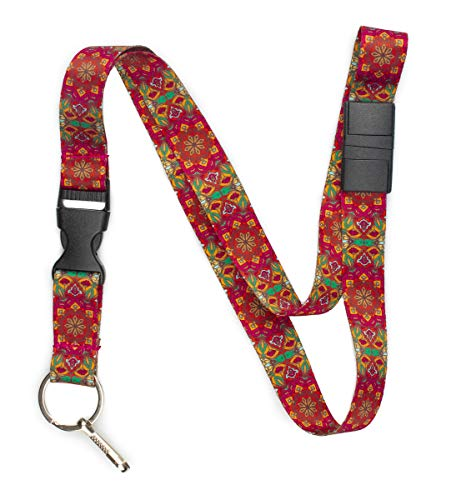 (Limeloot Boho Premium Lanyard with Breakaway, Release Buckle, and Flat Ring.)
