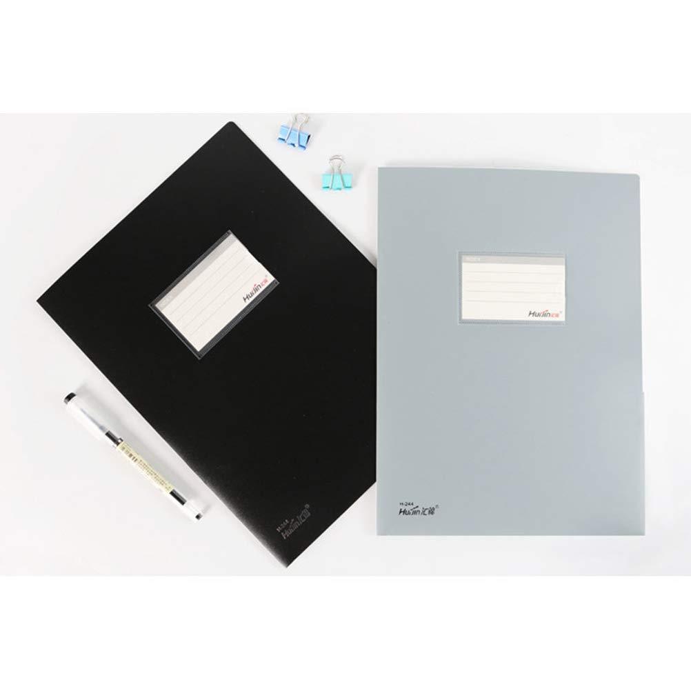 Blau//Schwarz//Grau Toyvian Dokumenten-Organizer mit 2 Taschen A4 3 St/ück
