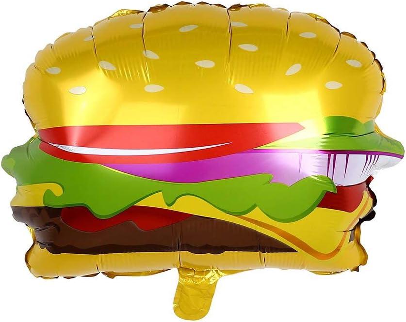 Outstanding Amazon Com Topmountain Hamburger Foil Balloons Birthday Party Funny Birthday Cards Online Inifodamsfinfo