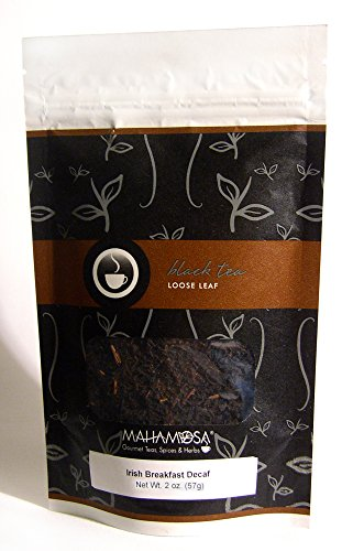 Mahamosa Decaffeinated Black Tea Loose Leaf (Looseleaf) - Irish Breakfast Decaf 2 oz