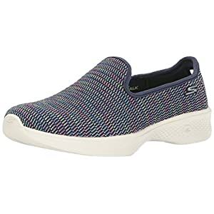 Skechers Performance Women's Go 4-14922 Walking Shoe,Navy Multi,6.5 M US