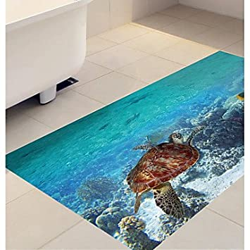 Hy Gg Diy 3d Sea World Turtle Rutschfeste Boden Aufkleber Home Decor