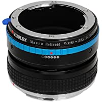 Vizelex Macro Focusing Helicoid for Nikon G and DX Lenses to Canon EOS DSLR Camera Body - Variable Magnification Helicoil with Built-in, De-Clicked Aperture Dial for Nikon G and DX type Lens