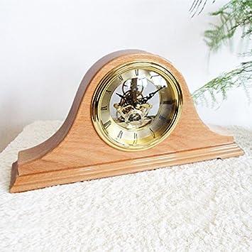 Relojes antiguos madera maciza continental engranaje mecánico reloj jefe mesa living comedor dormitorio muebles decoración 36 * 17.7 * 7.3 cm,210 color ...