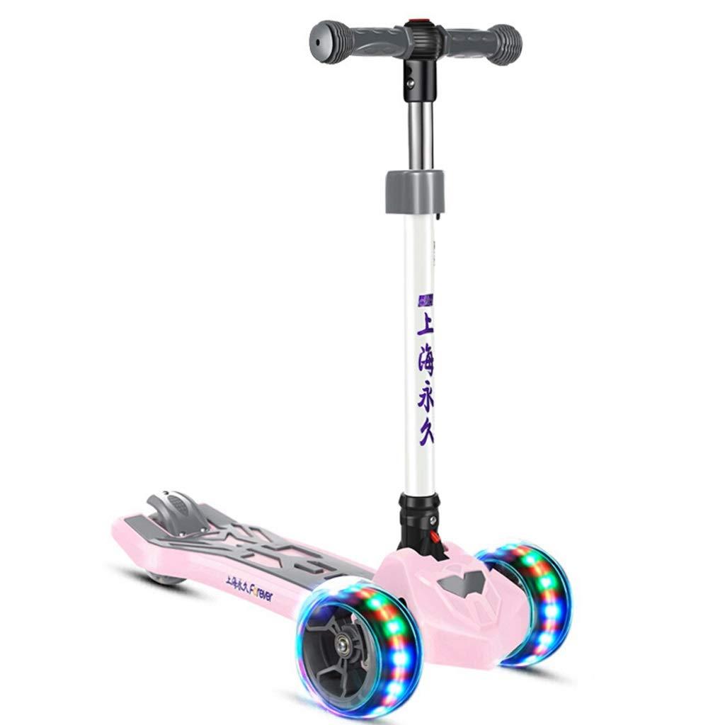 【特別セール品】 キッズ三輪キックスクーター - 子供のためのパーフェクト2-10歳 B07PSBS56W Pink) - Pink LEDライトアップホイール、折りたたみ式デザイン、調節可能なハンドル&軽量構造を特長としています (色 : Pink) Pink B07PSBS56W, 2019年秋冬新作:4ebfea61 --- senas.4x4.lt