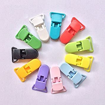 Amazon.com: 10Pcs Baby Plastic Pacifier Clip Holder Soother ...