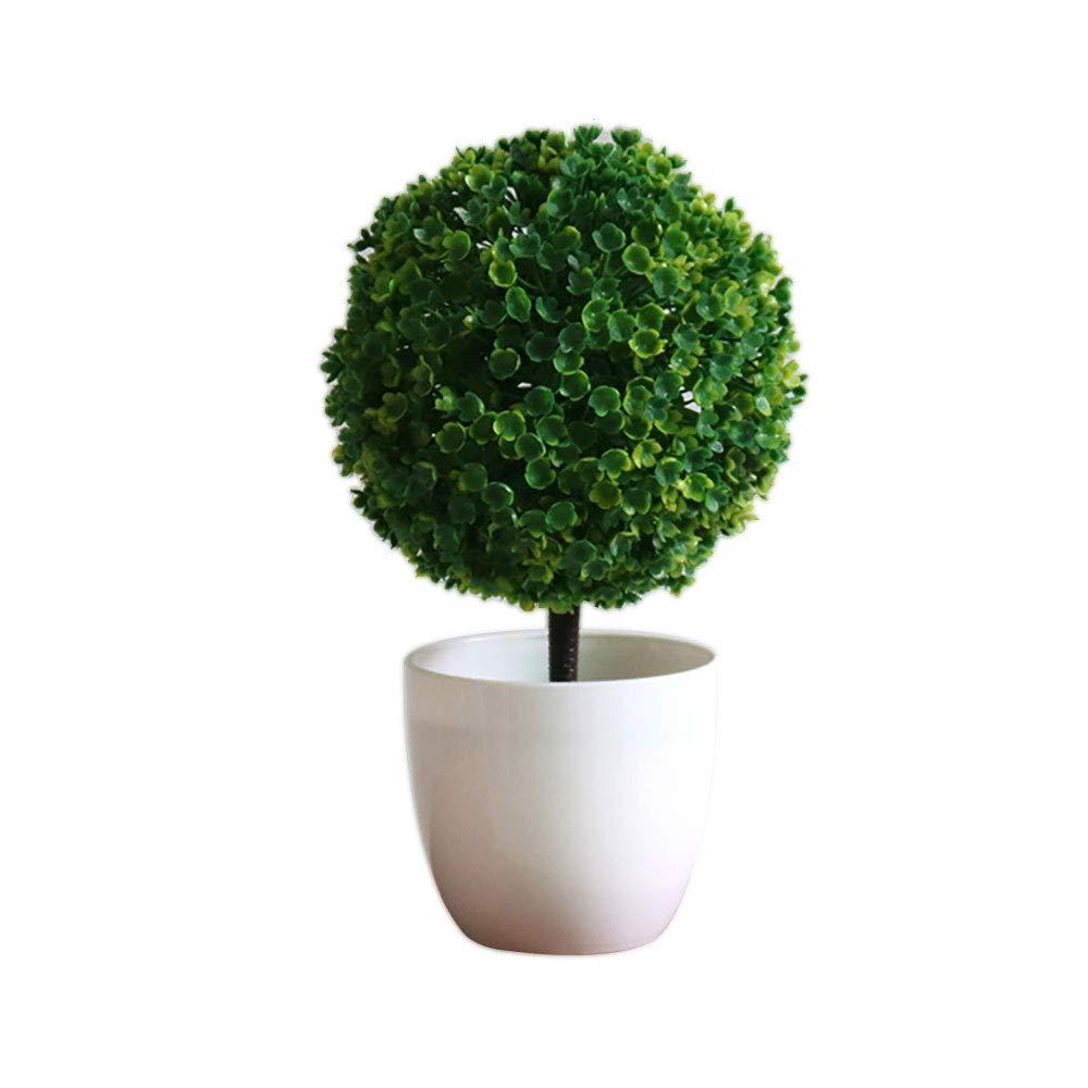 Mini Planta de Mesa de imitación con maceta Blanca