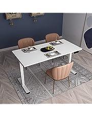 Flexispot E5 biurko z regulacją wysokości, stół do jadalni, elektryczny stelaż stołu, 3-krotny teleskop z blatem stołu. Z funkcją pamięci i łagodnym start/stop