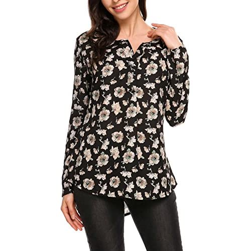 Cheap ANGVNS Women Chiffon Long Sleeve V Neck Polka Dot Casual Blouse Top free shipping