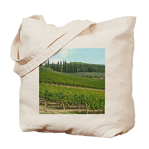 CafePress - Scenic Vineyards In Chianti, Tuscany - Natural Canvas Tote Bag, Cloth Shopping Bag (Tote Tuscany Wine)