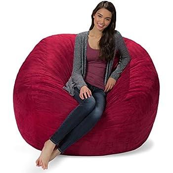 Amazon Com Comfy Sacks 5 Ft Memory Foam Bean Bag Chair