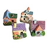 Loweryeah Mossy Multi-Meat Micro-Landscape Flowerpot Decoration Miniature European Villa Small House Model DIY Materials are Delivered at Random