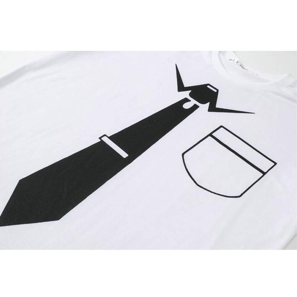 Mr.Macy Men Suit Pattern 3D Print Short Sleeve Blouse O-Neck T-Shirt Top Blouse