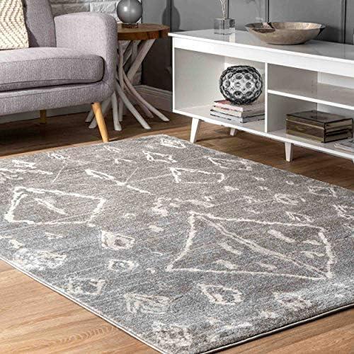 nuLOOM Elanor Contemporary Moroccan Area Rug, 8 x 10 , Grey