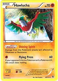 Amazoncom Pokemon Hawlucha 64111 Xy Furious Fists Holo