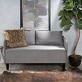 Christopher Knight Home 299628 Adira Fabric Loveseat, Grey