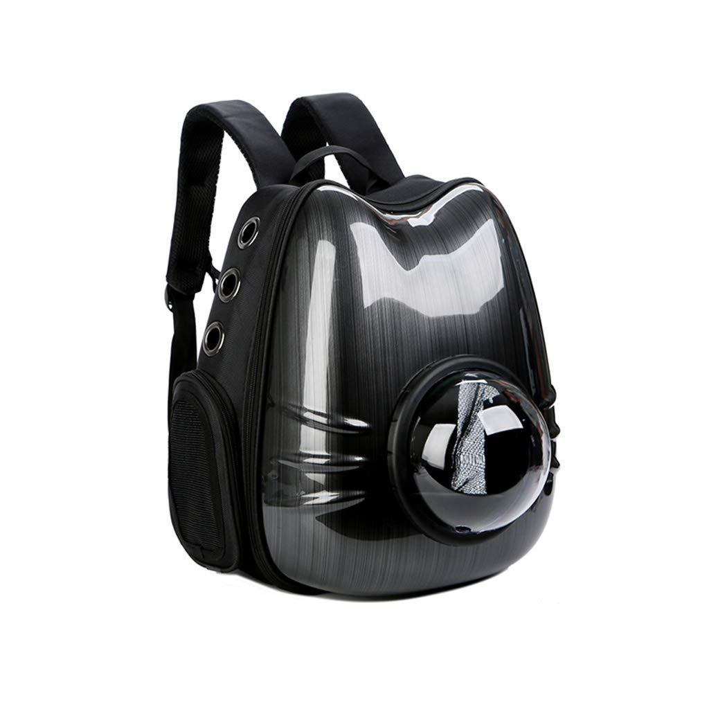 Black Creative Pet Bag Personality Fashion Pet Out Backpack Simple Breathable Cat and Dog Backpack (color   Black)