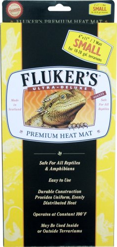 Fluker's 29051 Heat Mat for Reptiles and Small Animals, Small (6 x 11 Inches, 7 watt) -