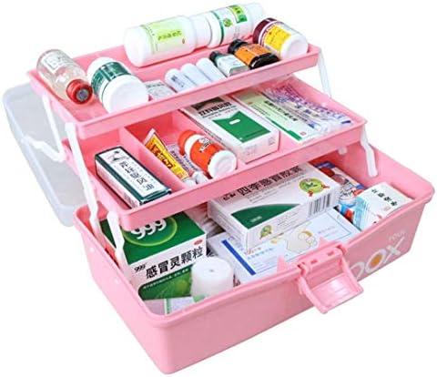 救急箱 薬箱 薬入れ 収納箱 ツールボックス 応急ボックス 多機能収納ケース 3層 携帯 大容量 かわいい 取っ手付き 小物入れ 多機能 家庭用29*20*15cm 32*20*16cm 三色展開 ブルー ピンク グリーン
