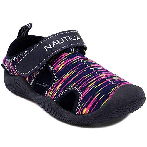 (Nautica Kids Kettle Gulf Protective Water Shoe,Closed-Toe Sport Sandal-Bright Multi Print-12)