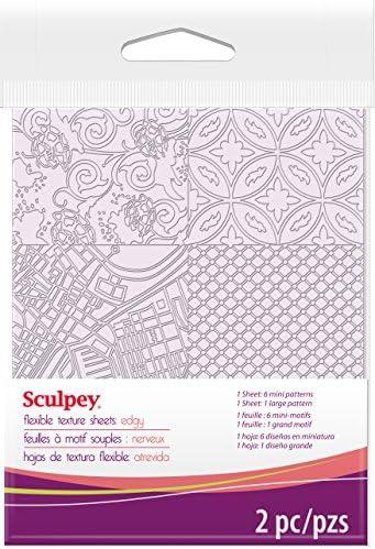 Polyform ASTM009 Sculpey Texture Sheet Edgy