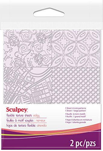 Polyform ASTM009 Sculpey Texture Sheet, Edgy