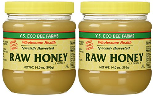 YS Organic Bee Farms Honey (Raw) 14 oz. Pack of 2 (Ys Eco Bee Farms Organic Raw Honey)