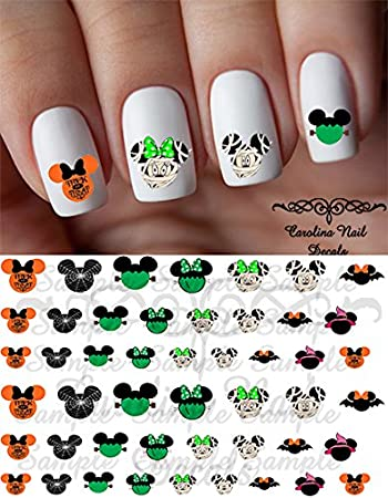 Amazon Halloween Nail Art Decals Set Of 45 Decals Beauty