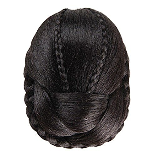 Wig,Baomabao Hair Braided Wig Bun (Black) (Hats With Hair Attached)