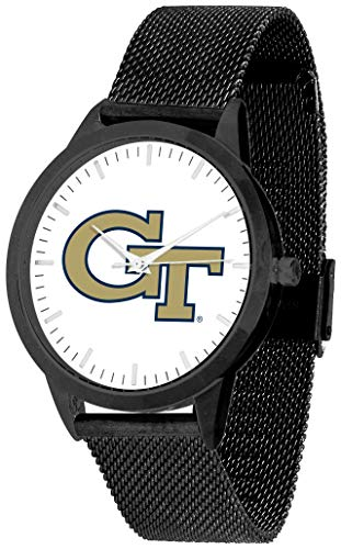 Georgia Tech Yellow Jackets - Mesh Statement Watch - Black Band - Black Dial ()