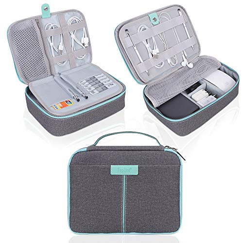 Electronics Organizer Toplive Accessories Grey Mint