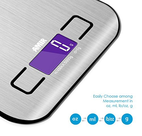 Amir 5000g 1g digital kitchen scale electronic for 0 1g kitchen scales