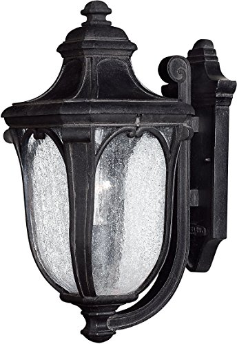 - Hinkley 1314MB Traditional One Light Wall Mount from Trafalgar collection in Blackfinish,
