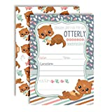 Adorable Otter Birthday Party Invitations for an Otterly Amazing Celebration, 20 5''x7'' Fill in Cards with Twenty White Envelopes by AmandaCreation