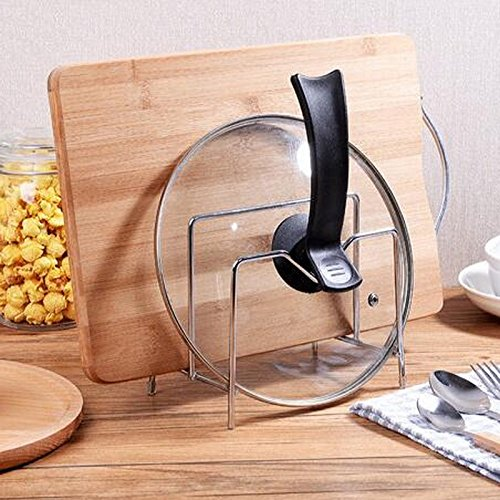 MiniInTheBox Kitchen Supplies Stainless Steel Lid Rack Knife Cutting Board Chopstick Holder Kitchen Shelf by MiniInTheBox