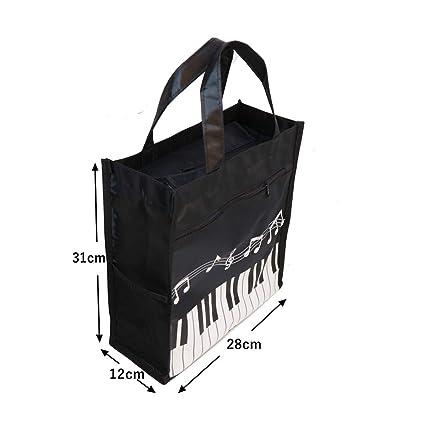 Amazon.com: Bolsa de música impermeable Oxford tela musica ...