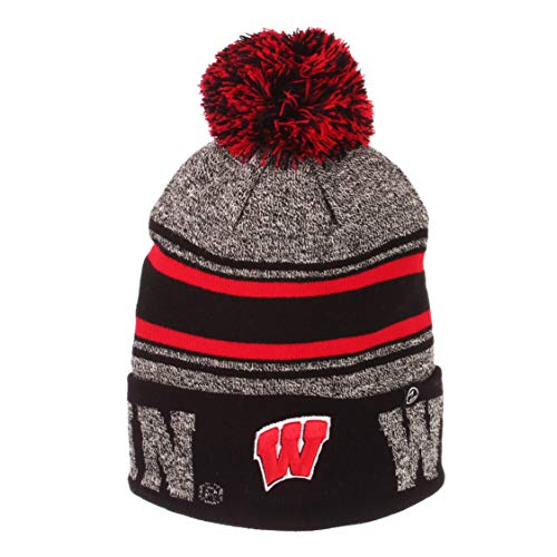 Zephyr Hats University of Wisconsin Madison Orbit Knit Hat NCAA College Beanie