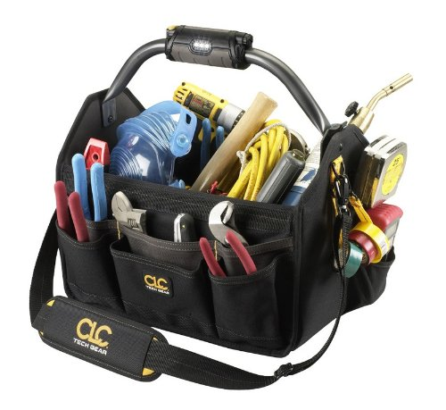CLC Custom Leathercraft L234 15-Inch 22 Pocket Tech Gear Light Handle Open Top Tool Carrier