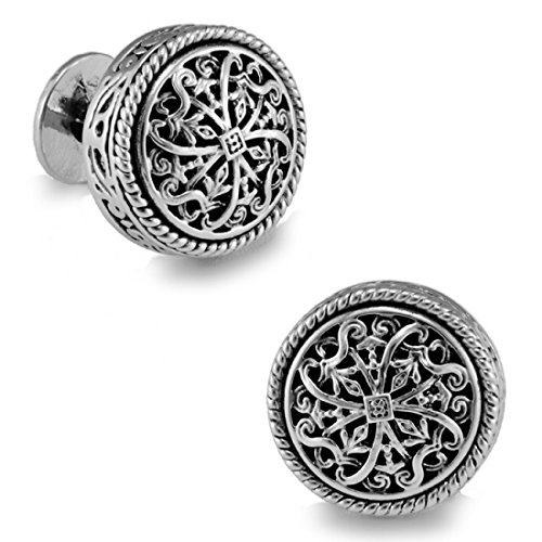 Silver Closure Cufflinks Wedding Business product image