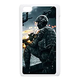 iPod Touch 4 Case White Battlefield 4 Soldier Lwjdm