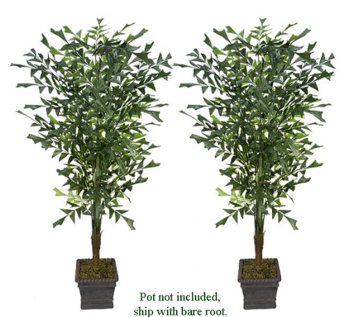 TWO 8' Fishtail Palm Artificial Trees _brand New, with No Pot,