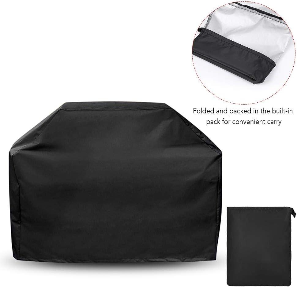 Lixada BBQ Grill Cover Protection Contre Les Rayons UV Contre Les intempéries Protection Contre la poussière pour Les barbecues Grill (XL) M