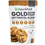GOLD - Brown Sugar Alternative (1 lb / 16 oz) Substitute 1:1 Sugar Replacement - Monk Fruit Erythritol Sweetener for Low Carb Dieters and Diabetics - No Calorie Sweetener, Non-GMO