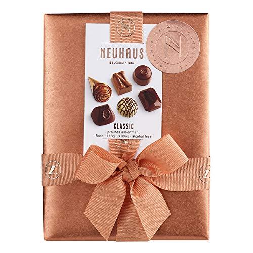 Neuhaus Belgian Chocolate Ballotin (8 pieces) - Gourmet Chocolate Gift Box - 1/4 lb (Dark Belgian Chocolate Truffle)