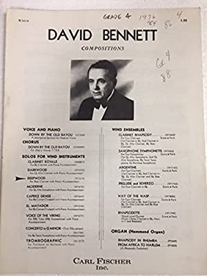david bennett compositions deepwood for bass clarinet with piano accompaniment