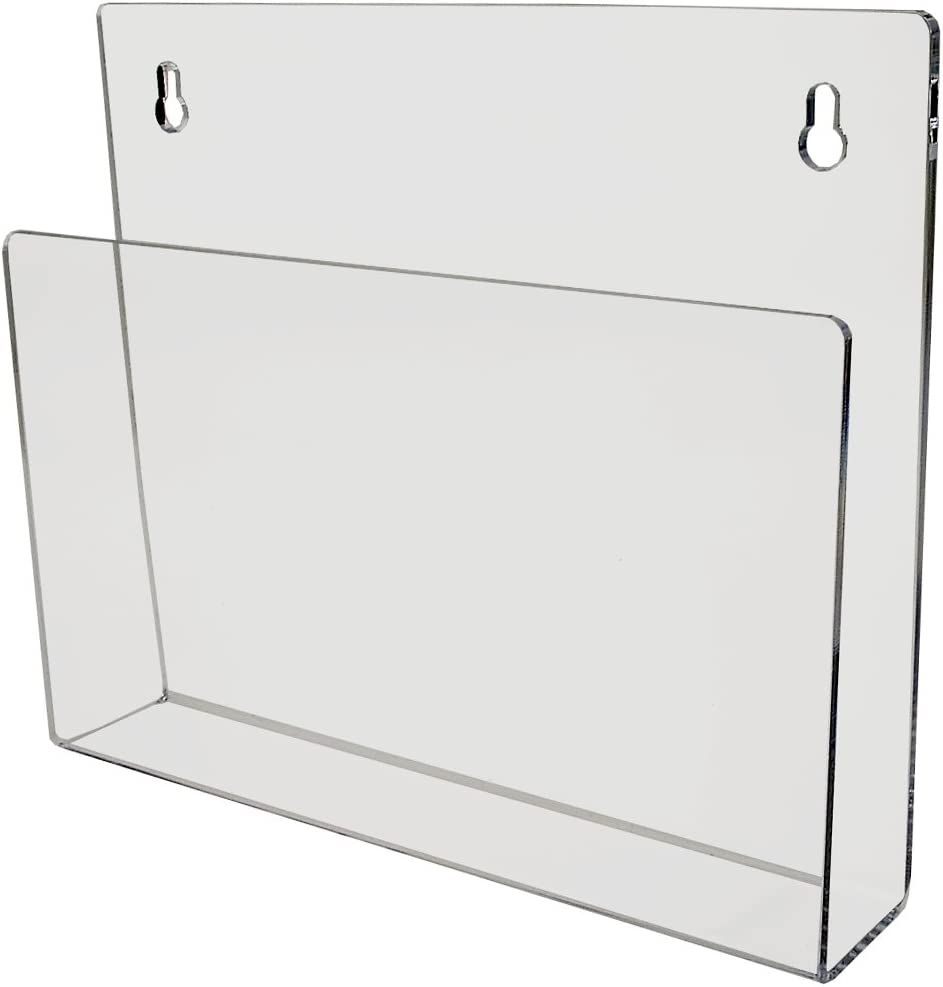 Marketing Holders Chart Holder Display Wall or Door Mount Rack Perfect for Medial Field Office Clear Acrylic Pack of 1