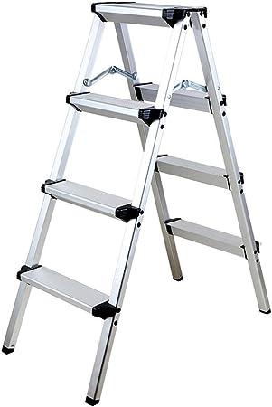Ylmhe Escalera Plegable Aluminio Ligero Escalera de Tijera Taburete con Pedal Antideslizante y Pedal Ancho 150kg / 330lbs Capacidad para Uso multipropósito (1 Paso o 2 Pasos o 4 Pasos Elegir), 4: Amazon.es: Hogar